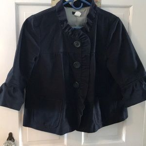 Vintage J Crew ruffle detailed jacket